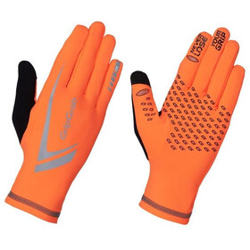 GripGrab Running Expert Hi-Vis Guantes Invierno Touchscreen, fluo orange